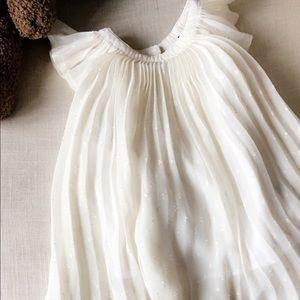 Pleated baby girl dress
